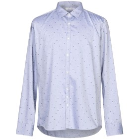 《セール開催中》AGLINI メンズ シャツ スカイブルー 45 コットン 100%
