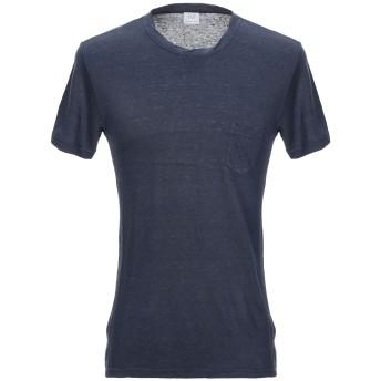 《セール開催中》RVL メンズ T シャツ ダークブルー 46 麻 77% / コットン 23%