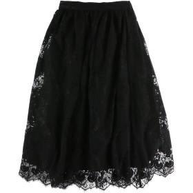【6,000円(税込)以上のお買物で全国送料無料。】起毛レーススカート
