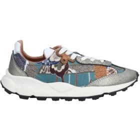 《セール開催中》FLOWER MOUNTAIN メンズ スニーカー&テニスシューズ(ローカット) ディープジェード 40 革 / 紡績繊維