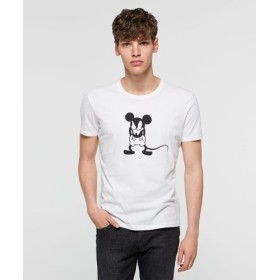 (SISLEY/シスレー)【Disney(ディズニー)コラボ】ミッキーマウス半袖Tシャツ/メンズ ホワイト