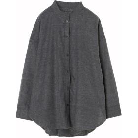 【6,000円(税込)以上のお買物で全国送料無料。】スタンドカラー起毛シャツ