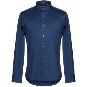 《期間限定セール開催中!》HIMON'S メンズ シャツ ブルー 40 コットン 75% / ナイロン 23% / ポリウレタン 2%