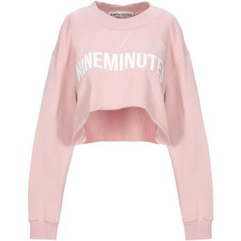 《セール開催中》NINEMINUTES レディース スウェットシャツ ピンク 1 コットン 100%
