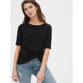 Gap ソフトスパン ツイストノットTシャツ