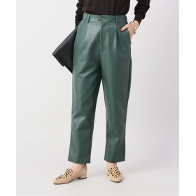 ジャーナルスタンダード Fax Faux Leather Trousers:パンツ レディース グリーン S 【JOURNAL STANDARD】