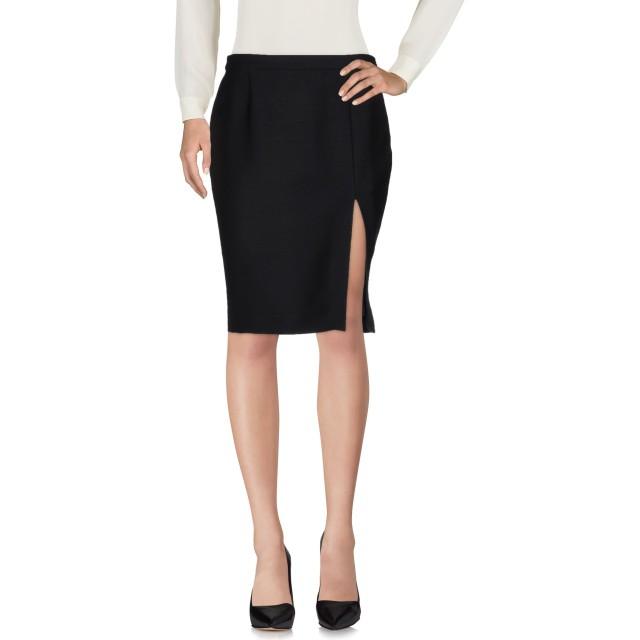 《セール開催中》BOUTIQUE MOSCHINO レディース ひざ丈スカート ブラック 42 バージンウール 100%