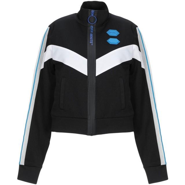 《セール開催中》OFF-WHITE レディース スウェットシャツ ブラック XS ポリエーテル 55% / コットン 45%