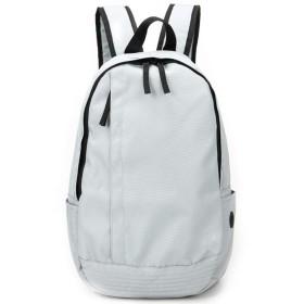 メンズバッグ 男性のスクールバッグ多機能大容量カジュアルファッションの旅行ショッピングバッグ レザーバッグ (Color : White, Size : S)
