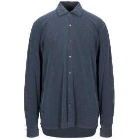 《セール開催中》MAJESTIC FILATURES メンズ シャツ ダークブルー XXL コットン 94% / ポリウレタン 6%