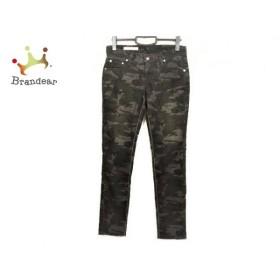 ダブルスタンダードクロージング パンツ サイズ36 S レディース 黒×ダークブラウン 迷彩柄  値下げ 20200114