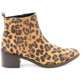 [ブロンド] レディース ブーツ&レインブーツ Elvina Waterproof Chic Leather Booties [並行輸入品]