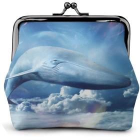 コインケース クジラの空 財布 小銭入れ レディース可愛い ミニ化粧ポーチ