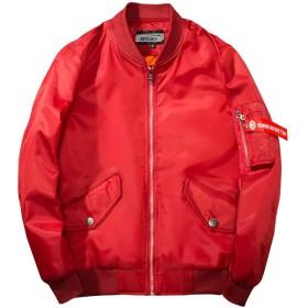 BOJIN ジャケット メンズ スタジャン 春 秋 薄手 ストリート フライトジャケット 大きいサイズ バイク アウター レッド XL