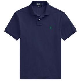 《期間限定セール開催中!》POLO RALPH LAUREN メンズ ポロシャツ ダークブルー S ポリエステル 100% The Earth Polo Shirt