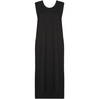 《セール開催中》SATNE レディース 7分丈ワンピース・ドレス ブラック S コットン 100% / セルロイド