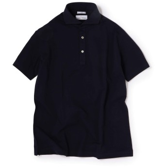 [シップス] アルビニ社製 アイコットーニ カノコ ショートスリーブ ポロシャツ 112115156 ネイビー M