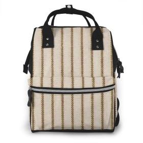 万洋 最新旅行 通勤 個性的 多機能レジャーバッグ リュック マザーズバッグ ベビー用品収納 出産準備 防水盗難防止ポケット シンプル大容量手提げ袋 かわいい -性質は木の広い縞を所有する