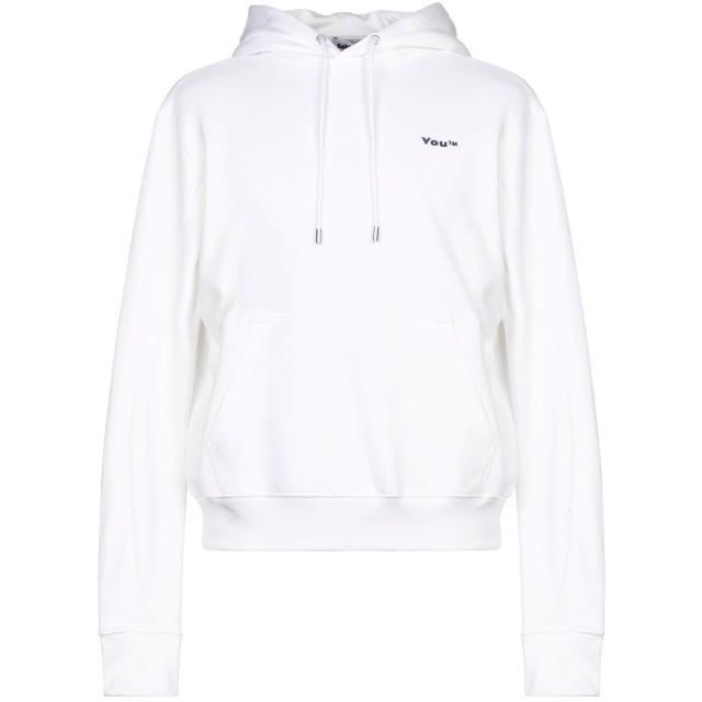 《セール開催中》GMBH メンズ スウェットシャツ ホワイト S コットン 100%