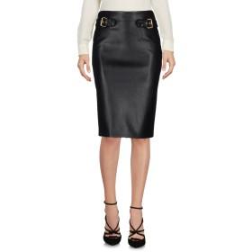 《セール開催中》MOSCHINO レディース ひざ丈スカート ブラック 40 ポリエステル 55% / ポリウレタン 45%