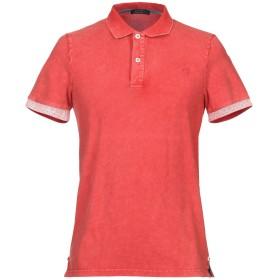 《セール開催中》DIMATTIA メンズ ポロシャツ レッド L コットン 95% / ポリウレタン 5%