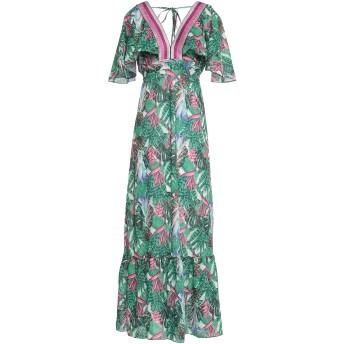 《セール開催中》4GIVENESS レディース ロングワンピース&ドレス グリーン S ポリエステル 100%