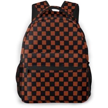 リュック リュックサック 赤と黒 幾何 メンズ レディース 大容量 軽量 通学 通勤 バックパック おしゃれ