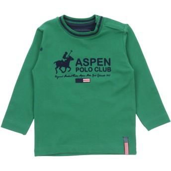 《セール開催中》ASPEN POLO CLUB ボーイズ 0-24 ヶ月 T シャツ グリーン 6 コットン 95% / ポリウレタン 5%