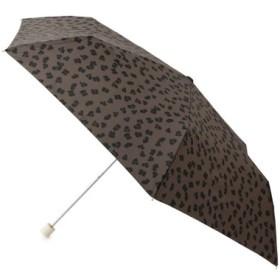 (ROPE' PICNIC/ロペピクニック)【晴雨兼用】レオパード折り畳みアンブレラ/レディース ブラック系(02)