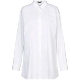 《セール開催中》WALTER VOULAZ レディース シャツ ホワイト 46 コットン 79% / ナイロン 17% / ポリウレタン 4%