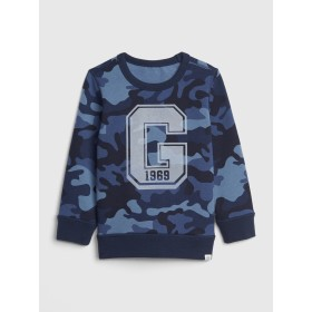 Gap プリント クルーネックスウェットシャツ (幼児)