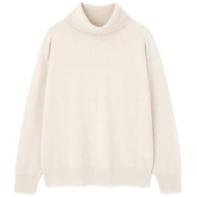 【公式/NATURAL BEAUTY BASIC】ウールカシミヤ12Gニット/女性/ニットトップ/オフ/サイズ:M/羊毛 90% カシミヤ 10%