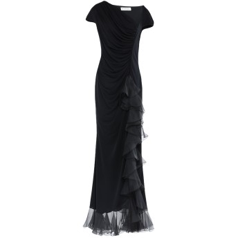 《セール開催中》GAI MATTIOLO レディース ロングワンピース&ドレス ブラック 44 アセテート 80% / ナイロン 20%
