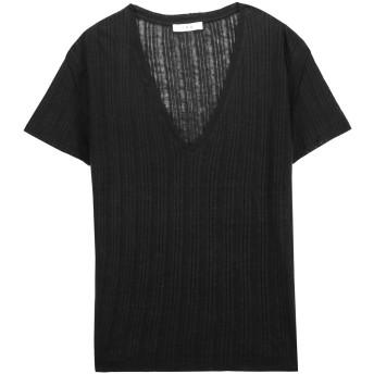 《セール開催中》IRO レディース T シャツ ブラック S 麻 100%