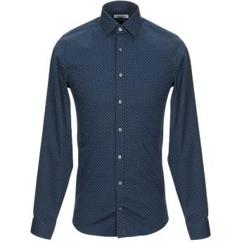 《セール開催中》CALVIN KLEIN メンズ シャツ ダークブルー 45 コットン 98% / ポリウレタン 2%