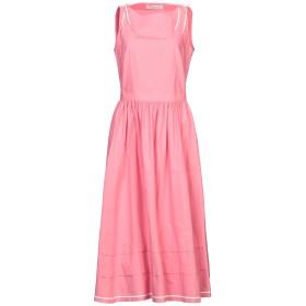 《セール開催中》PHILOSOPHY di LORENZO SERAFINI レディース 7分丈ワンピース・ドレス ピンク 40 コットン 100%