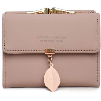 二つ折り財布 レディース財布 ミニ財布 小さい財布 ウォレット 大容量 小型でコンパクト ミニ ガマ口 小銭入れ付き 6カード入れ&1お札入れ 軽量 短サイフ(紫色)