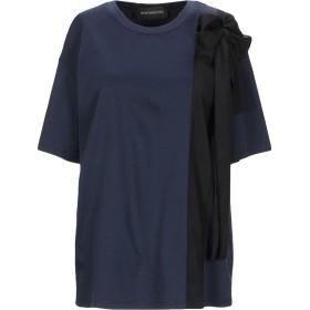 《セール開催中》SPORTMAX CODE レディース T シャツ ダークブルー S コットン 50% / レーヨン 50% / ポリエステル