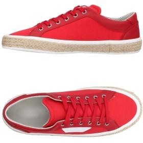 《セール開催中》DOLCE & GABBANA メンズ スニーカー&テニスシューズ(ローカット) レッド 5.5 紡績繊維 / 革 / ストリング