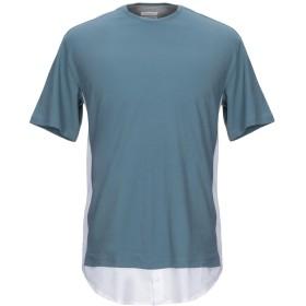 《セール開催中》PAOLO PECORA メンズ T シャツ ブルーグレー M コットン 100%