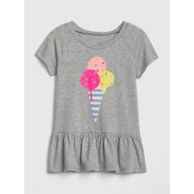 Gap ぺプラム半袖Tシャツ (幼児)