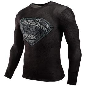 メンズ Tシャツ 長袖インナーシャツ 吸汗速乾運動キャプテンアメリカ ウェアコンプレッションウェア スパイダーマン
