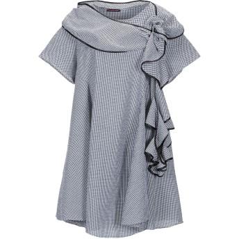 《セール開催中》FRANCESCA CONOCI レディース ミニワンピース&ドレス ブラック S ナイロン 80% / ポリウレタン 20%