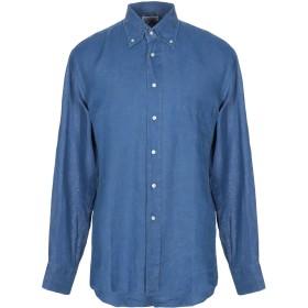 《セール開催中》DSIRE メンズ シャツ ダークブルー XL 麻 100%
