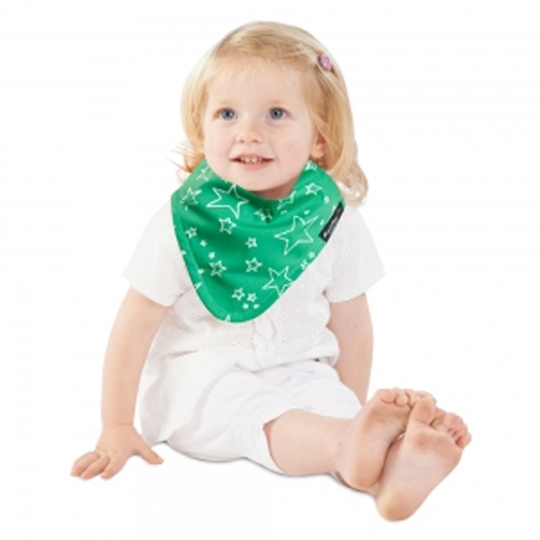 Mum 2 Mum - 雙面時尚造型口水巾圍兜-閃亮星/萊姆綠