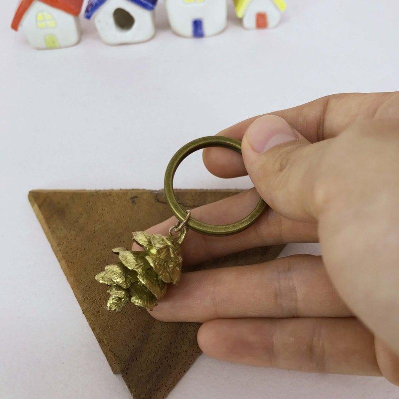 松果/黃銅/鑰匙圈/Màn 工