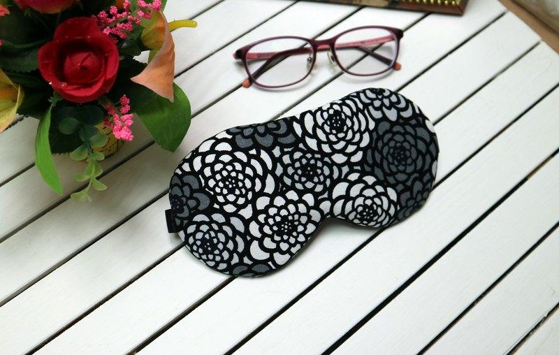 灰玫瑰白玫瑰 可調式 睡眠眼罩 sleep mask