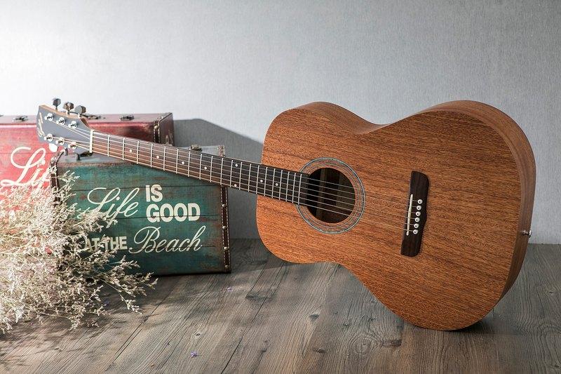 台灣原創 guitarman M-11B 40吋 桃花心木合板 手工40吋OM桶身吉他