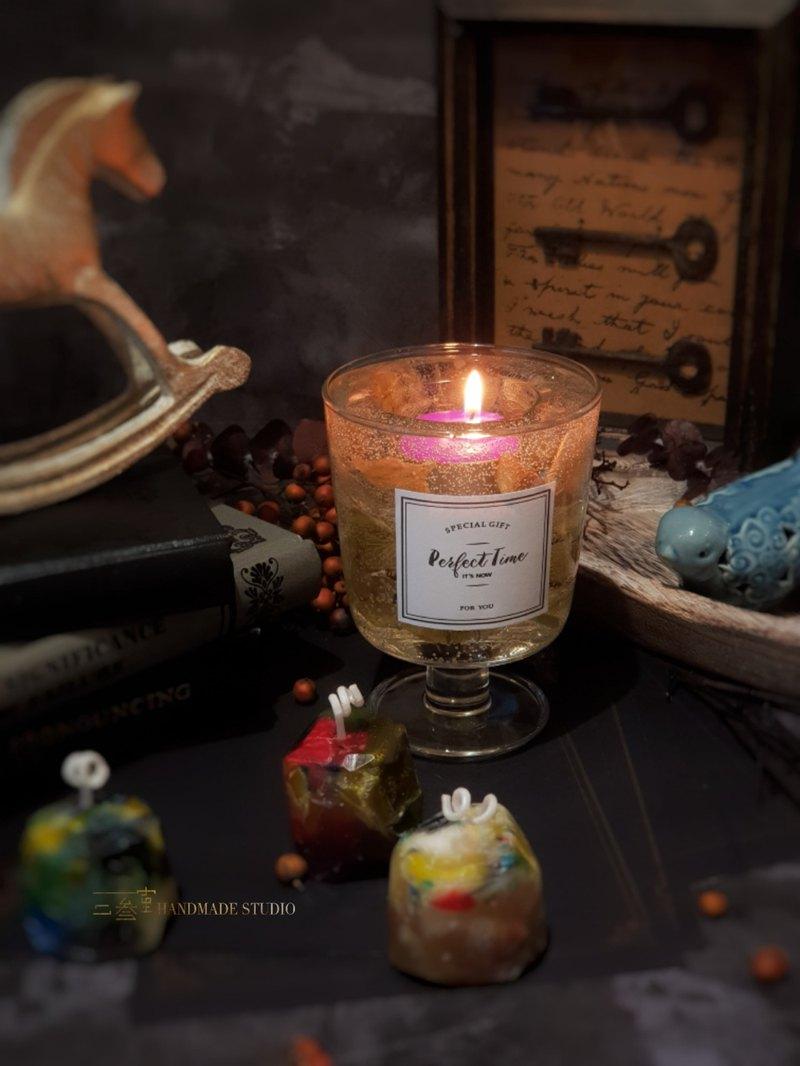 【二叁室】果凍花燭杯-基礎蠟燭手作課程(雙人課程)