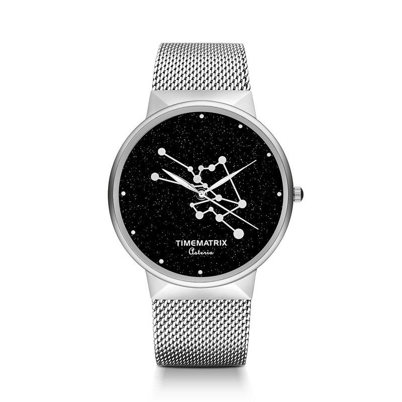 【丹麥星彩寶石】金牛座 Time Matrix 星座創意時尚男女石英手錶